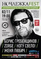 Концерт Жени Любич на фестивале Ночлежка-Фест в клубе «А2» (СПб)